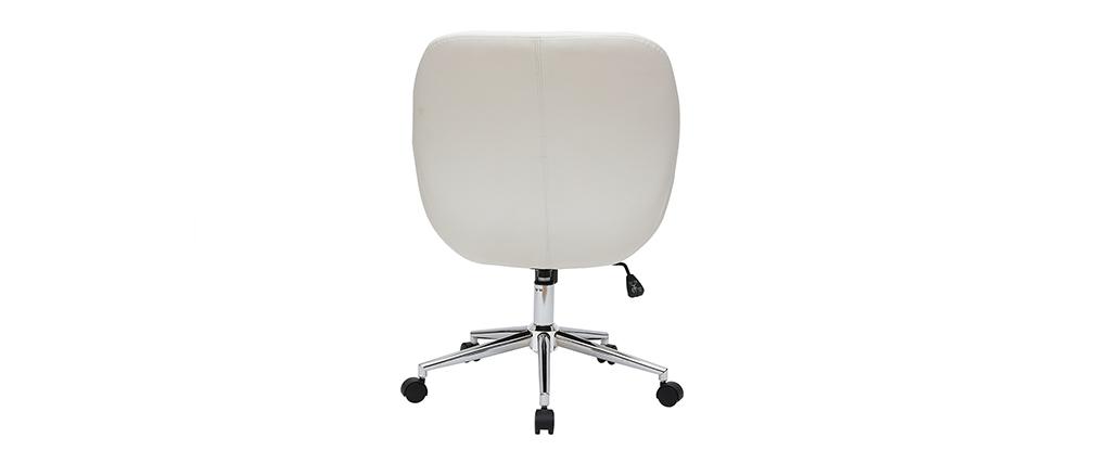 Silla de escritorio moderna blanca COLIN