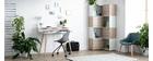 Silla de escritorio moderna gris y negra CONCHA