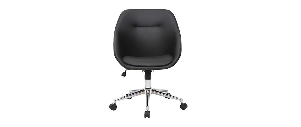 Silla de escritorio moderna negra COLIN