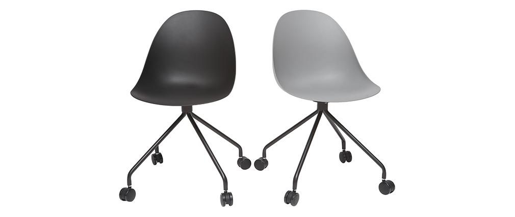 Silla de escritorio moderna negra CONCHA