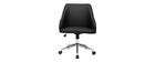 Silla de escritorio moderna negra SCARLETT