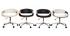 Silla de escritorio moderna polipiel negro/madera clara ARAMIS