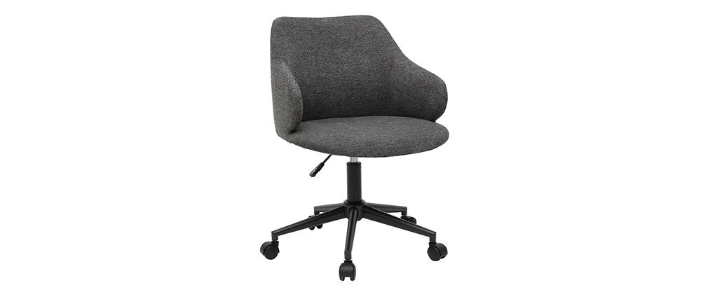 Silla de escritorio moderno en tejido gris HEMMY