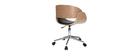 Silla de escritorio negro y madera clara con ruedas BENT