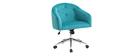 Silla de escritorio terciopelo azul turquesa SHARON