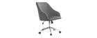 Silla de escritorio terciopelo gris oscuro SCARLETT