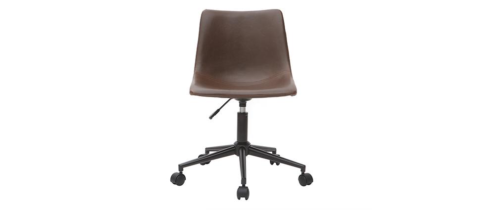 Silla de escritorio vintage marrón NEW ROCK