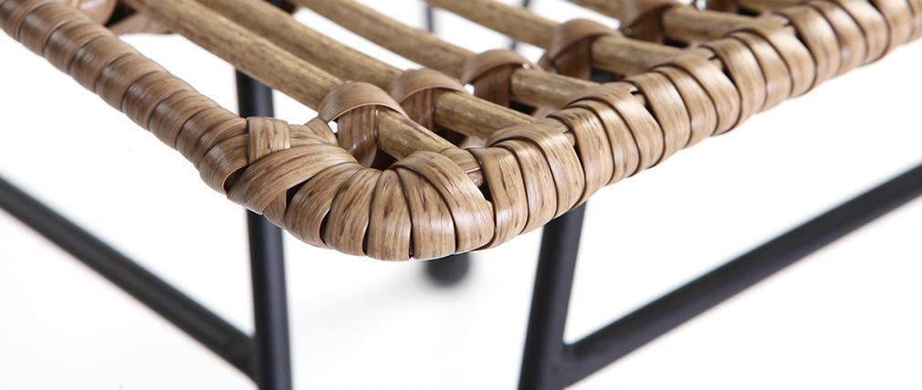 Silla de jardín en resina imitación mimbre MAJA
