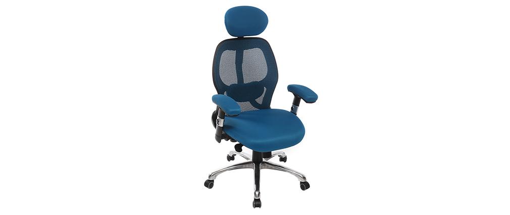 Silla de oficina ergonómica azul Ultimate v2 plus