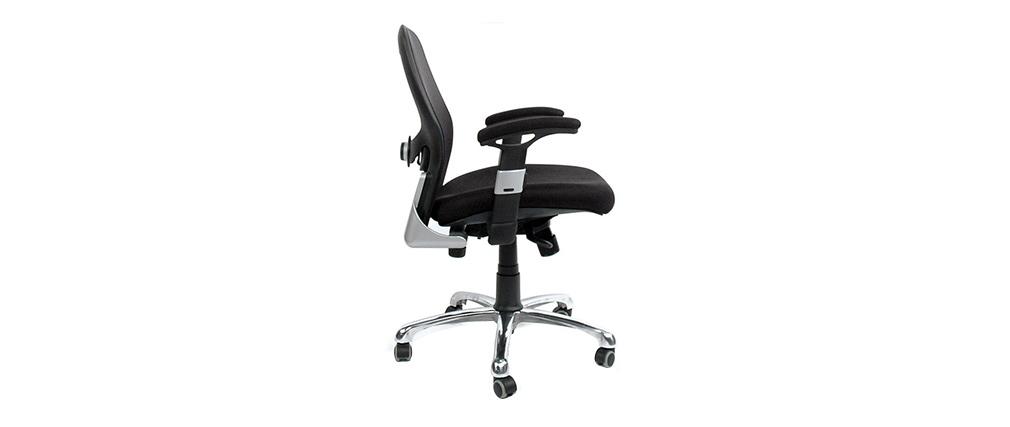Silla de oficina ergonómica negra ULTIMATE V2