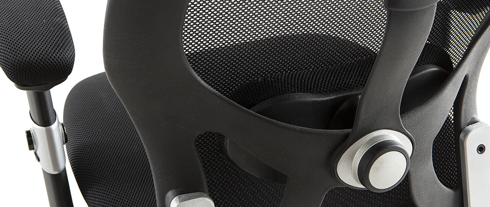 Silla de oficina ergonómica negra Ultimate v2 plus