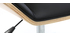 Silla de oficina moderna PU negra y madera clara MELKIOR