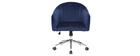 Silla de oficina terciopelo azul oscuro ROMI