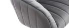 Silla de oficina terciopelo gris oscuro ROMI