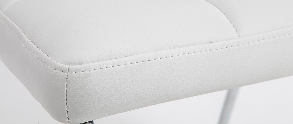 Silla diseño acolchada blanca lote de 2 POLLY