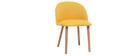 Silla diseño amarillo y madera CELESTE