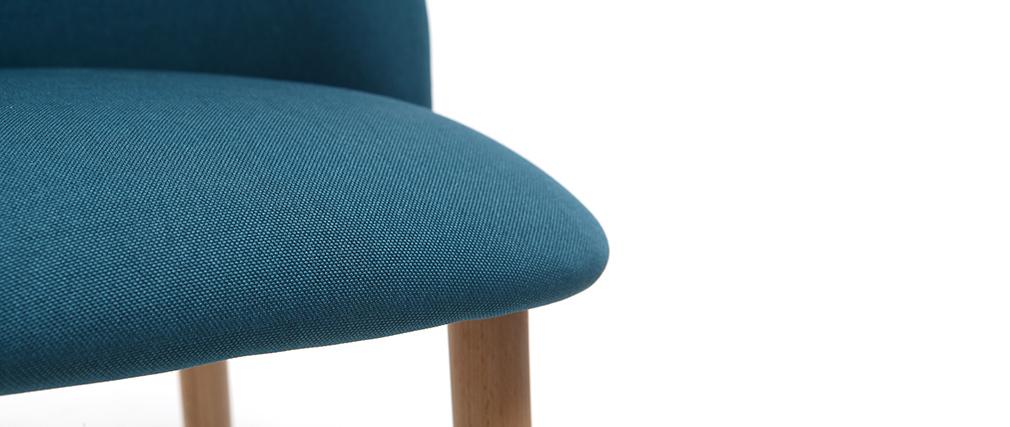 Silla diseño azul petróleo y madera CELESTE