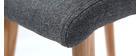 Silla diseño gris oscuro y madera lote de dos HORTA