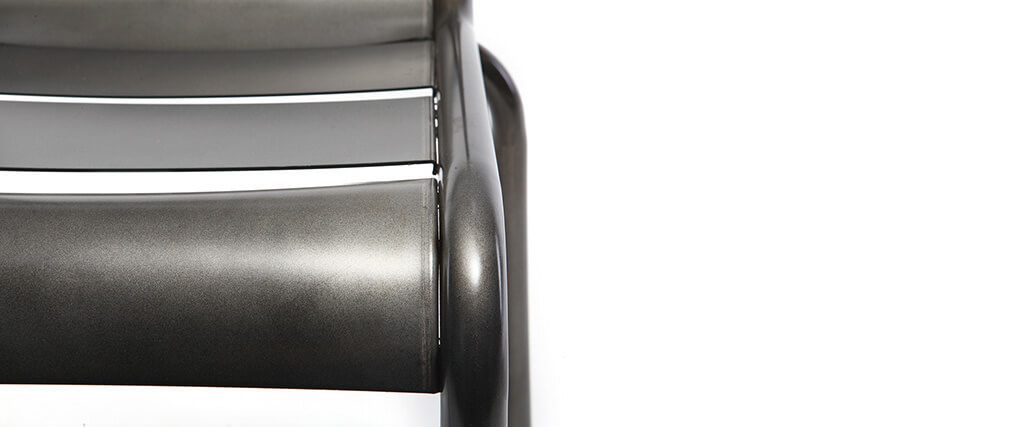 Silla diseño metal inox lote de 2 SHERMAN