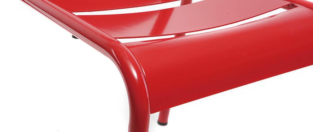 Silla diseño metal rojo lote de 2 SHERMAN