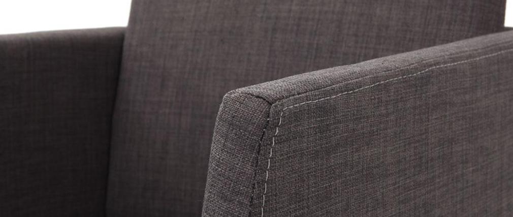Silla diseño poliéster gris y acero cromado NEORA