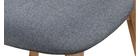 Silla diseño vintage gris y patas madera lote de 2 MARIK