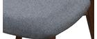 Silla diseño vintage gris y patas nogal lote de 2 MARIK