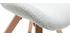 Silla escandinava tejido gris patas madera clara ANYA