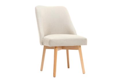Silla escandinava tejido natural patas madera clara LIV