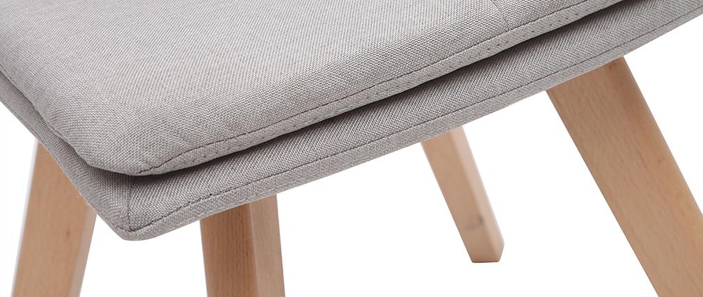 Silla escandinava tejido natural patas madera clara lote de 2 THEA
