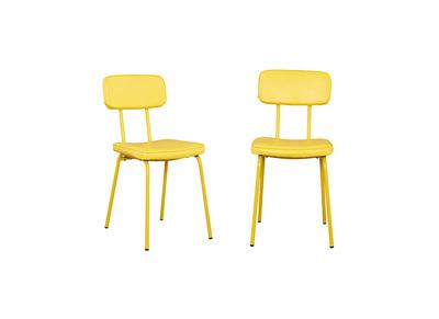 Silla estilo escolar amarilla lote de 2 SEVENTY