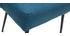 Silla moderna en tejido azul petróleo y patas metal negror LOV
