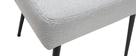 Silla moderna en tejido gris claro y patas metal negror LOV