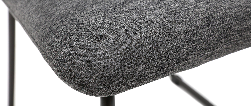 Silla moderna en tejido gris y metal negro MYST