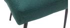 Silla moderna en tejido verde oscuro y patas metal negror LOV