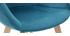 Silla moderna en terciopelo azul petróleo TAYA