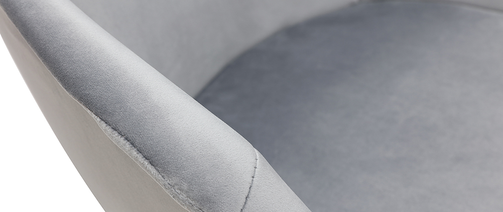 Silla moderna en terciopelo gris TAYA