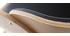 Silla negra y madera clara nogal BENT
