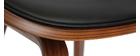 Silla negra y madera oscura nogal BENT
