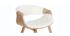 Silla nórdica blanco y madera clara ARAMIS