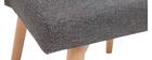 Silla nórdica en tejido gris oscuro LIV