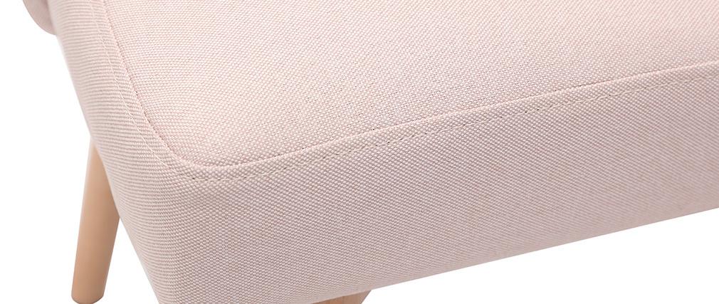 Silla nórdica en tejido rosa LIV