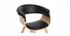 Silla nórdica negro y madera clara OKTAV