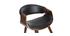 Silla nórdica negro y madera oscura ARAMIS