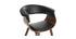 Silla nórdica negro y madera oscura OKTAV