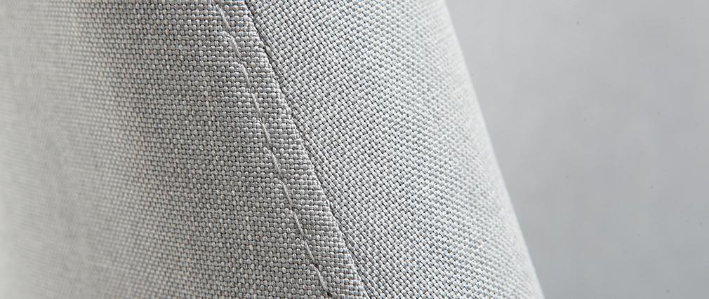 Silla nórdica tejido gris patas madera clara LIV