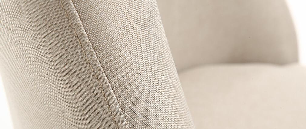 Silla nórdica tejido natural patas madera clara LIV