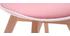 Silla rosa con patas madera BABY PAULINE