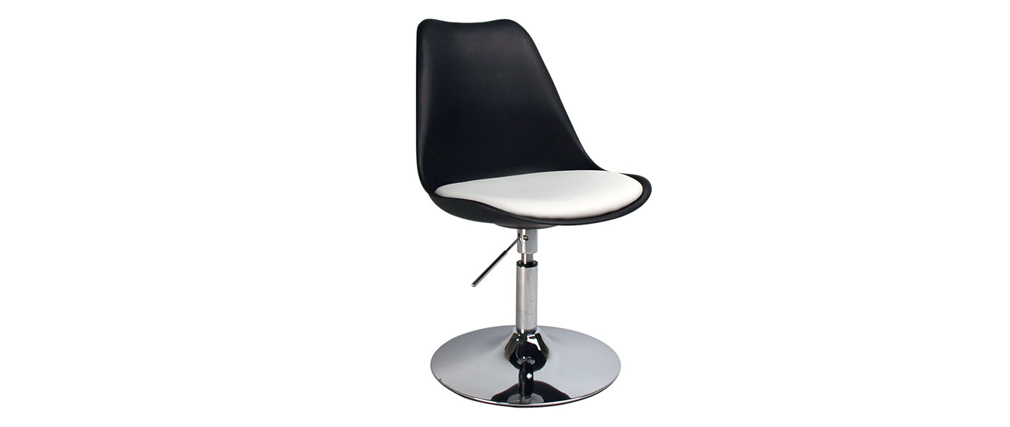 Silla Steevy de color negro giratoria y de altura regulable