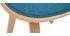 Silla tejido azul petróleo y madera clara BENT